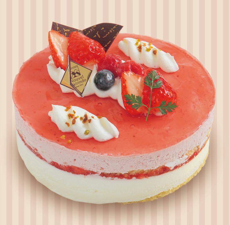 いちごとホワイトチョコのケーキ